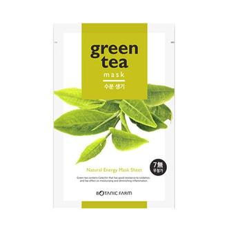 BOTANIC FARM Natural Energy Mask Sheet Green Tea Mask 1sheet