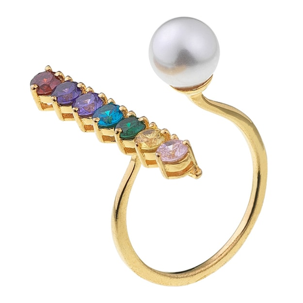 Product Detail - DE YEEN Crystal Ring #multicolor 1pc - image 0