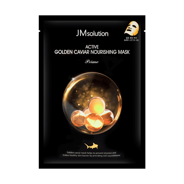 Product Detail - JM SOLUTION ACTIVE Golden Caviar Nourishing Mask Prime 1 Sheet - image 0