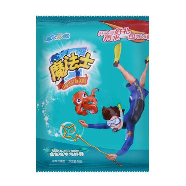 商品详情 - 魔法e族 魔法士 玩酷系列干脆面 章鱼保罗海鲜味 46g - image  0