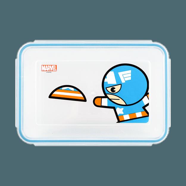 商品详情 - 名创优品Miniso 漫威卡通系列长方形保鲜盒1000ml 漫威图案随机发送 - image  0