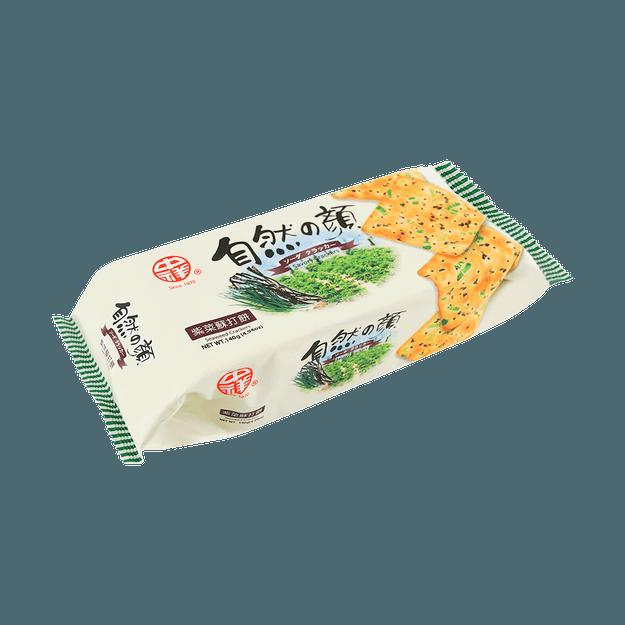 商品详情 - 台湾中祥 自然の颜 紫菜苏打饼干 140g - image  0