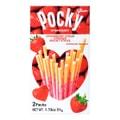 日本GLICO格力高 Pocky百奇 心形草莓味巧克力饼干棒 51g