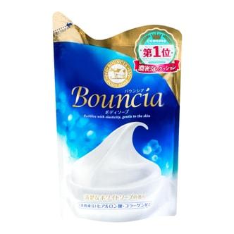 日本COW牛乳石鹼共进社 BOUNCIA浓密泡沫沐浴乳补充包 牛奶花香 430ml COSME大赏第一位