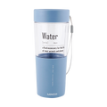 Miniso Simple Plastic Water Bottle 410 ml (Blue)