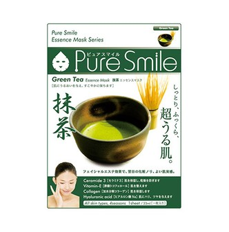 PURE SMILE Green Tea Essence Facial Mask Series 1sheet