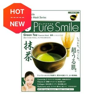 日本PURE SMILE 精华面膜抹茶舒缓祛黄 单片入