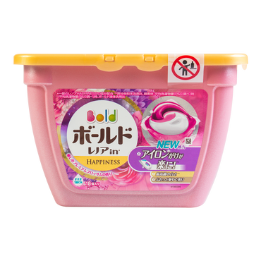 PG Japan Laundry Wash Detergent 3D Gel Ball Elegant Blossom  Peony (Includes Fabric Softener) 18tablets 347g