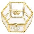 PUTWO 美妆工具 收纳盒 复古六角皇冠盒
