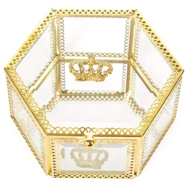 商品详情 - PUTWO 美妆工具 收纳盒 复古六角皇冠盒 - image  0