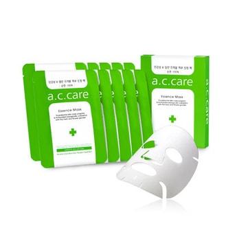 韩国A.C.CARE 祛痘精华面膜 针对问题肌肤研制 粉刺皮肤专用 绿色 10片入