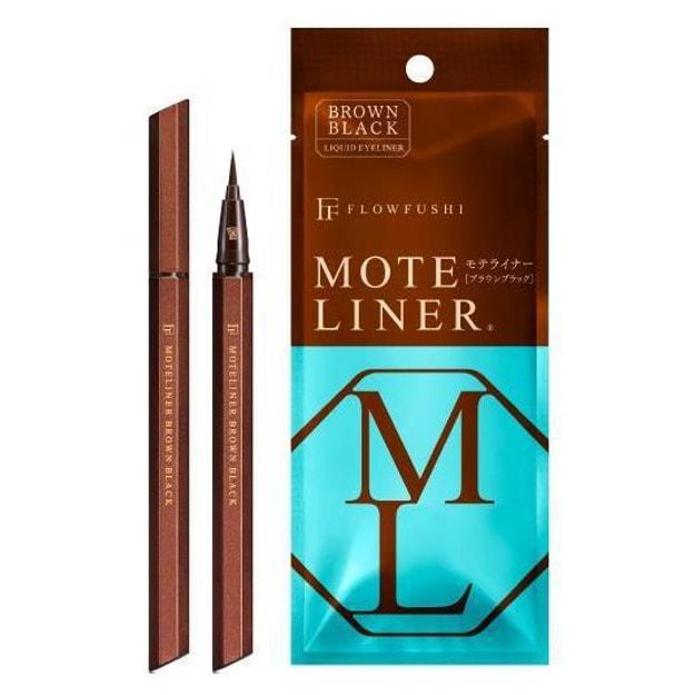 Product Detail - FLOWFUSHI MOTE LINER Liquid Eye Liner #Brown Black 1pcs - image 0