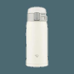 ZOJIRUSHI 象印||单手开合不锈钢保温杯||SM-SF36WM 灰白色 360ml