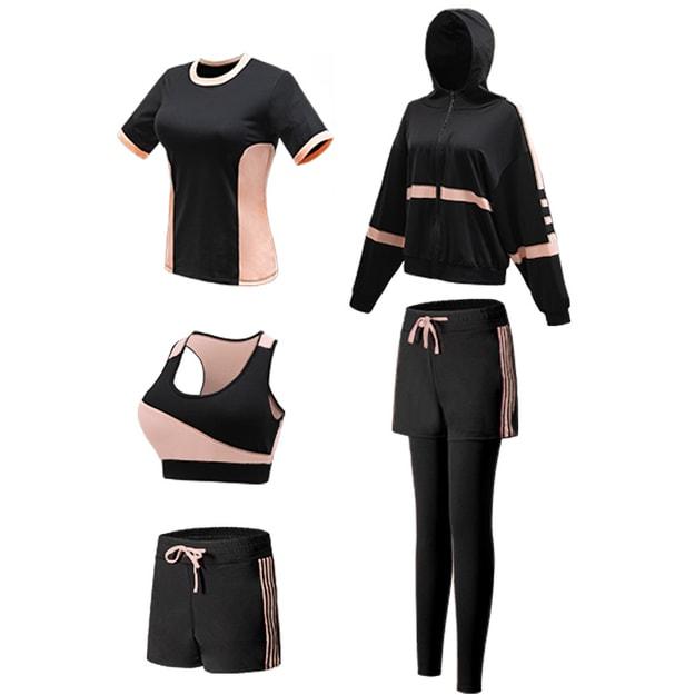 Product Detail - Langsha yoga suit 5PCS Premium Black Size L - image  0