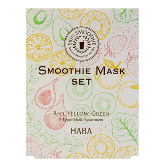 HABA 3 Types Smoothie Mask【Limited】 6 sheets