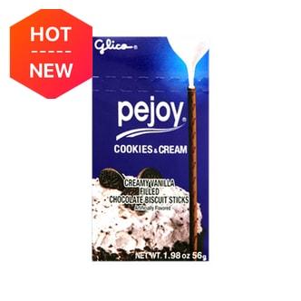 日本GLICO格力高 PEJOY百醇 奶油夹心巧克力饼干棒 56g