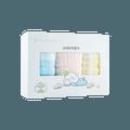全棉时代 婴儿 儿童 六层一体织造水洗纱布面巾 3条装 最大拉伸尺寸 25cmx50cm 甜蜜格子
