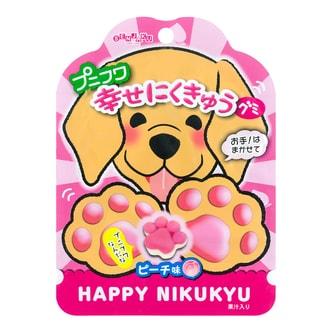 日本SENJAKU扇雀饴 幸福猫咪脚印超萌水果软糖 桃子味 40g
