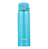 ZOJIRUSHI One Touch Stainless Steel Vacuum Thermal Bottle Ocean Blue 480ml SM-SC48AV