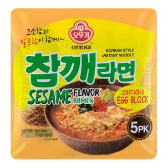 韩国OTTOGI不倒翁 芝麻风味拉面 5包入 575g