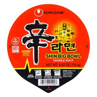 韩国NONGSHIM农心 速食辛拉面 红色系列 方便增量碗装 114g