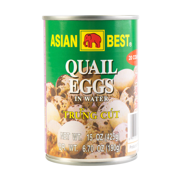 ASIAN BEST Quail Eggs in Water 425g