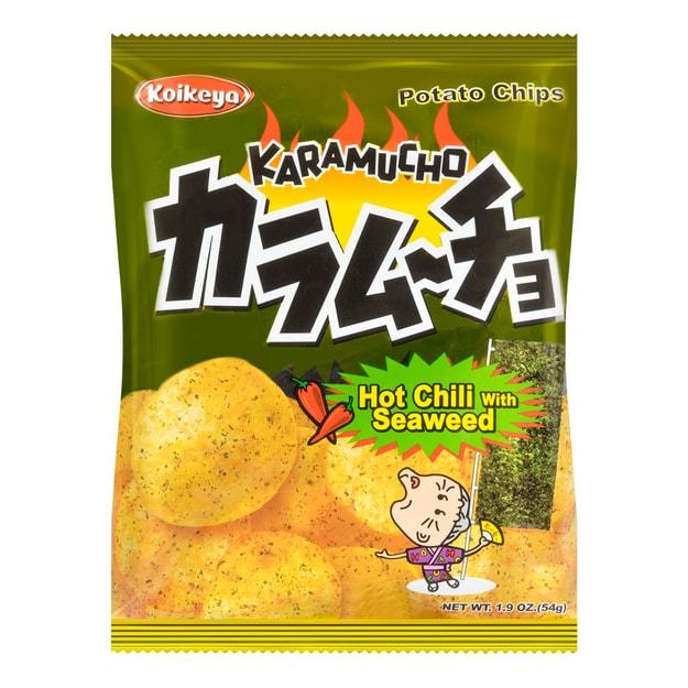 商品详情 - 日本KOIKEYA湖池屋 咔辣姆久 平切洋芋片 海苔口味 54g - image  0