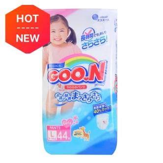 GOO.N Baby Diaper Soft Pants for Girls Type L Size 9-14kg 44Pcs