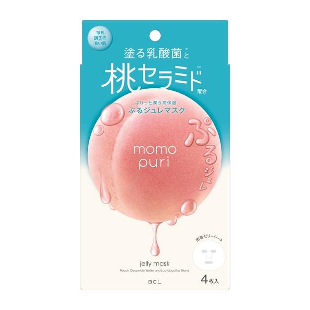 Product Detail - BCL Momo Puri Jelly Mask 4sheet - image 0