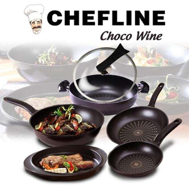 商品详情 - 韩国GANGNAM SHOP Chefline Chocowine钻石不粘锅 6件套 - image  0