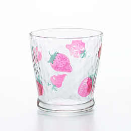 ISHIZUKA GLASS 石塚硝子||ADERIA 水果糖可爱日系水杯||草莓图案 1个