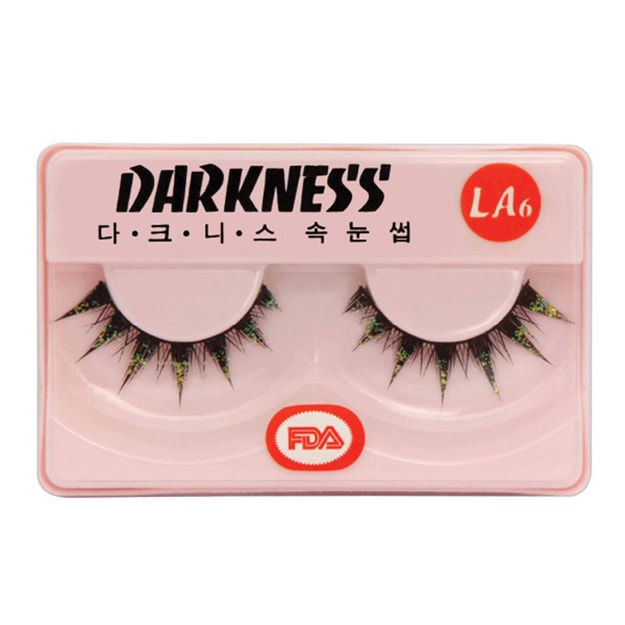 Product Detail - DARKNESS False Eyelashes #LA6 1Pair In 1Box - image 0