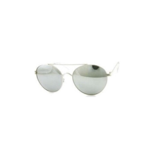Product Detail - RETRO POP Fashion Sunglasses 6005 Silver Frame/Silver Mirror - image 0