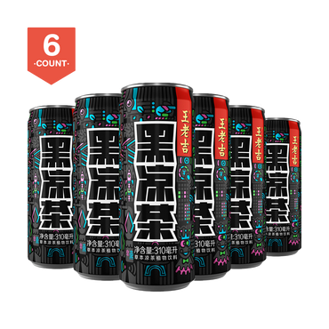 【Value Set】WONGLOKAT Black Herbal Tea 6 pc 310ml * 6