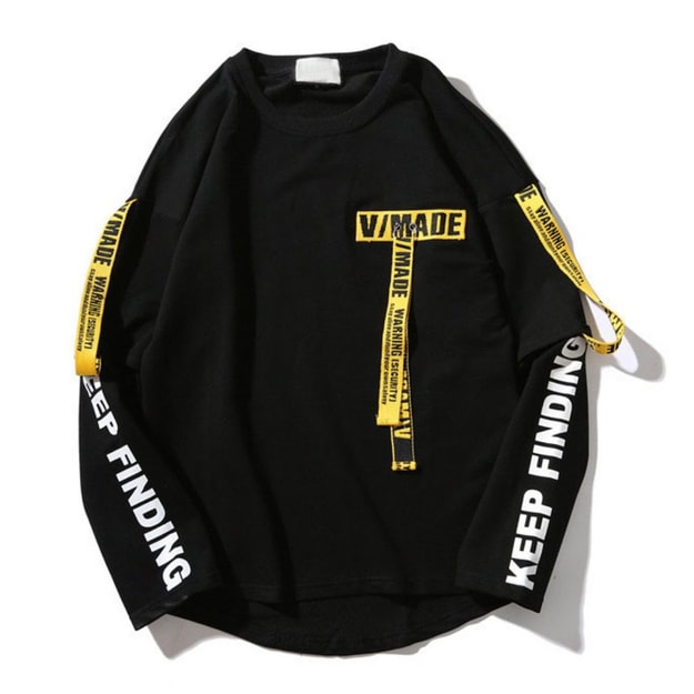 Product Detail - NIEPCE Caution Signs Lightweight Sweater Black M 1 Piece - image 0