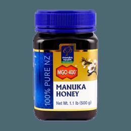 新纽西兰MANUKA HEALTH 纯正天然养胃麦卢卡蜂蜜 UMF 13+ MGO 400+ 500g