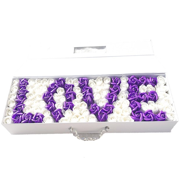 Product Detail - HYACINTH Love Of My Life purple white Soap flower - image 0