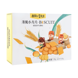 THREE SQUIRRELS Crackers Original Flavor 308g