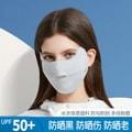 中国直邮UPE50+防晒口罩女神时尚面罩全脸罩防紫外线透气3d立体夏季薄款冰丝 浅蓝