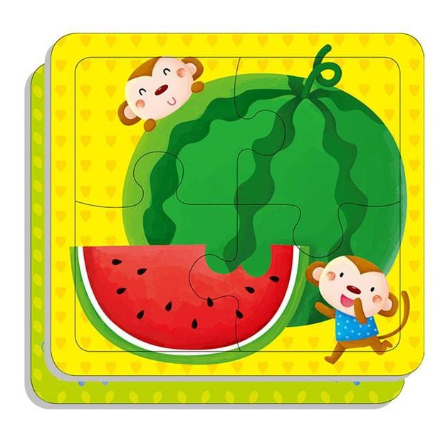 商品详情 - 邦臣小红花:动手动脑玩拼图1(2-3岁)(4块) - image  0