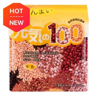 台湾鸿津 元气100 自然烘焙五谷棒 牛乳味 185g