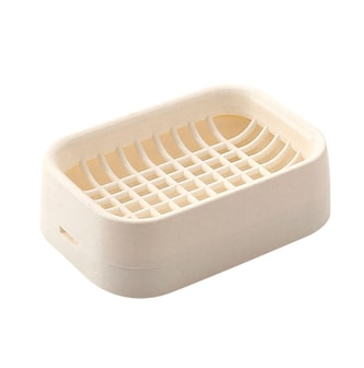 INOMATA Dual Layer Plastic Soap Dish Holder