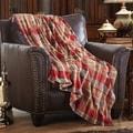 MERRYLIFE单层毛毯 柔软保暖摇粒绒  红格子  60'' 90''四季通用
