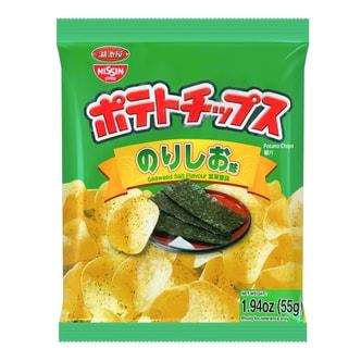 日本NISSIN日清 湖池屋 香脆薯片 紫菜盐味 55g