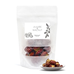 NESTLADY 枣加核桃 Jujube with walnut kernel Xinjiang seedless jujube plus walnut snacks food additives free 100g / 3.53oz
