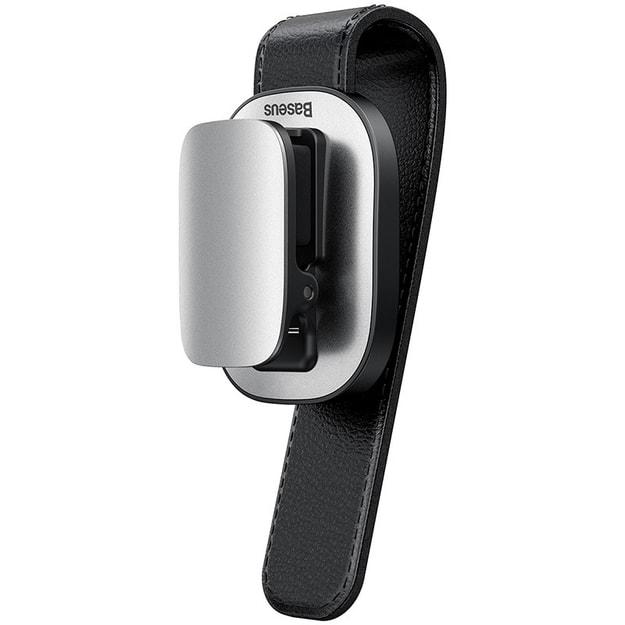 商品详情 - Ramble 铂金车载眼镜夹汽车信用卡粘贴式太阳镜收纳架数据线材夹子 夹持款银色 - image  0