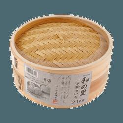 Japan Pearl Chinese Bamboo Basket Steamer 21cm