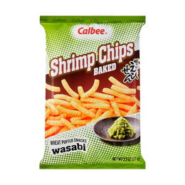 CALBEE Baked Wasabi Shrimp Flavored Chips 94g