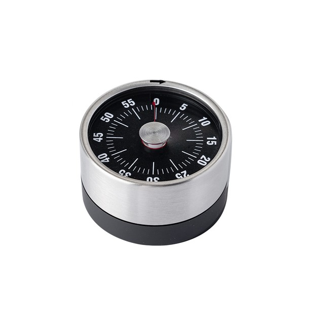 商品详情 - 中国直邮 TIMESWOOD 厨房机械计时器 烹饪磁吸时间管理器定时器 厨房旋转不锈钢倒计时 黑色一件 - image  0