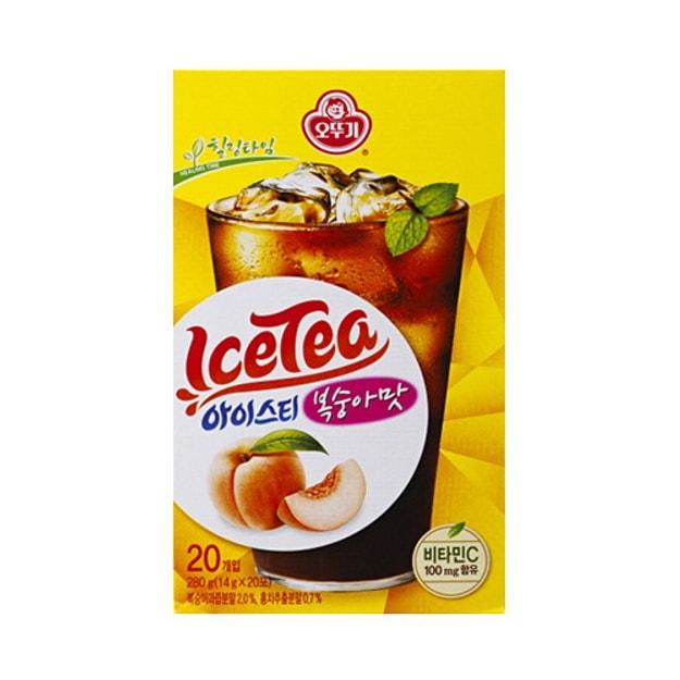 商品详情 - 韩国OTTOGI不倒翁 即溶冰红茶 蜜桃味 20包入 - image  0
